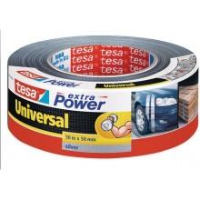 TESA Opravná páska Extra Power Universal, textilní, silně lepivá, stříbrná, 50m x 50mm 56389-00000-11