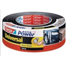 TESA Opravná páska Extra Power Universal, textilní, silně lepivá, černá, 50m x 50mm 56389-00001-05