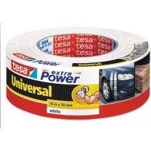 TESA Opravná páska Extra Power Universal, textilní, silně lepivá, bílá, 50m x 50mm 56389-00002-06
