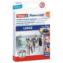TESA Powerstrips Large, velké oboustranné proužky na připevňování, bílé, nosnost 2kg 58000-00133-01