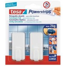 TESA Powerstrips háček obdélníkový velký bílý plast, nosnost 2kg 58010-00131-01