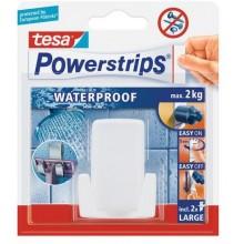 TESA Powerstrips Waterproof háček voděodolný, na holicí strojek, bílý plast, nosnost 2kg 59703-00000-00