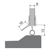 VITRA LINE těsnění na dveře (okapnička) sklo 6mm délka 1000mm