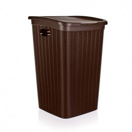 VETRO-PLUS RATTAN Koš na špinavé prádlo 37x38x54,5cm 50 l, tmavě hnědý 5530052
