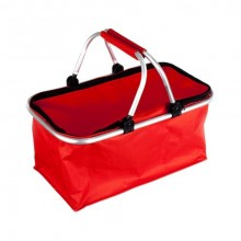 VETRO-PLUS Košík kempingový - nákupní, červený 5052100R