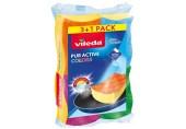 VILEDA PUR active houbička střední 3+1 ks Color Edition 149470