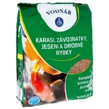 VODNÁŘ krmivo pro závojnatky, jeseny a jiné drobné rybky, 4kg