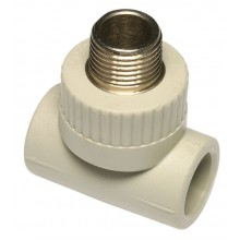 """PPR T-kus s kovovým závitem vnějším 20 x 1/2"""" x 20 mm, 6053203"""