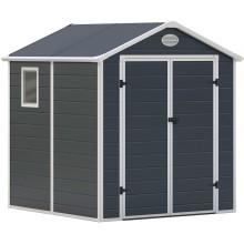 G21 Zahradní domek PAH 357 - 188 x 190 cm, plastový, šedý 6390036