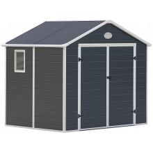 G21 Zahradní domek PAH 523 - 188 x 278 cm, plastový, šedý 6390037