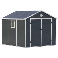 G21 Zahradní domek PAH 670 - 241 x 278 cm, plastový, šedý 6390039