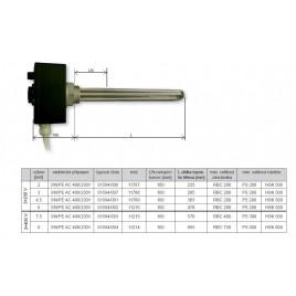 """REGULUS topné těleso 6,0 kW s ovládáním a HDO, 3f, G6/4"""" 11216"""