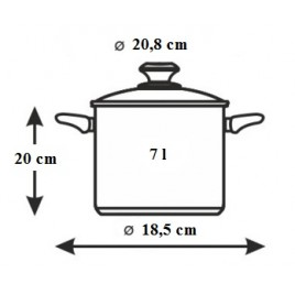 BANQUET Tlakový hrnec 7l ALLEGRO Matte 2311107M