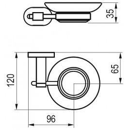 RAVAK Chrome CR 200.00 držák s mýdlenkou (sklo) X07P187