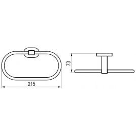 RAVAK Chrome CR 300.00 držák na ručník oválný X07P190