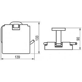 RAVAK Chrome CR 400.00 držák na WC papír X07P191