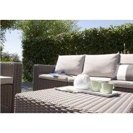 ALLIBERT CALIFORNIA 2 Seater set balkonový, hnědá/šedo-béžová 17192233