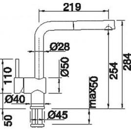 BLANCO Linus-S dřezová baterie beztlaková, chrom 512200