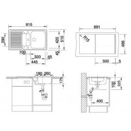blanco classic 5 s d ez silgranit b ov champagne 521318. Black Bedroom Furniture Sets. Home Design Ideas