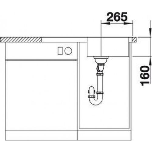 v prodej blanco lantos 45 s if d ez nerezov s excentrem v etn sifonu nerez kart ovan. Black Bedroom Furniture Sets. Home Design Ideas