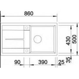 BLANCO Metra 5 S dřez Silgranit 840 x 480 mm, antracit 513044