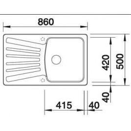 BLANCO Nova 5 S dřez Silgranit antracit 510461
