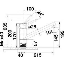 BLANCO Tivo dřezová baterie granitová, jasmín/chrom 518419 VÝPRODEJ SKLADU