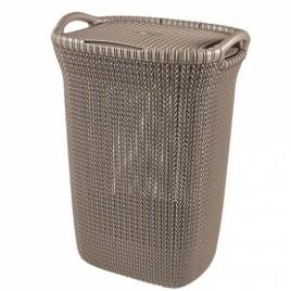 VÝPRODEJ CURVER KNIT 57L Koš na špinavé prádlo 45x61x34cm hnědý POŠKOZENÉ