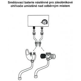 HAKL baterie klasická dřezová, beztlaková, délka ramínka 20 cm, HABAT002