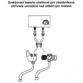 HAKL baterie klasická dřezová, beztlaková, délka ramínka 30 cm, HABAT003