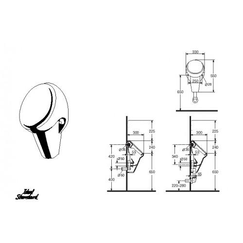 v prodej ideal standard avance urinal k 5526 01 bez poklopu. Black Bedroom Furniture Sets. Home Design Ideas