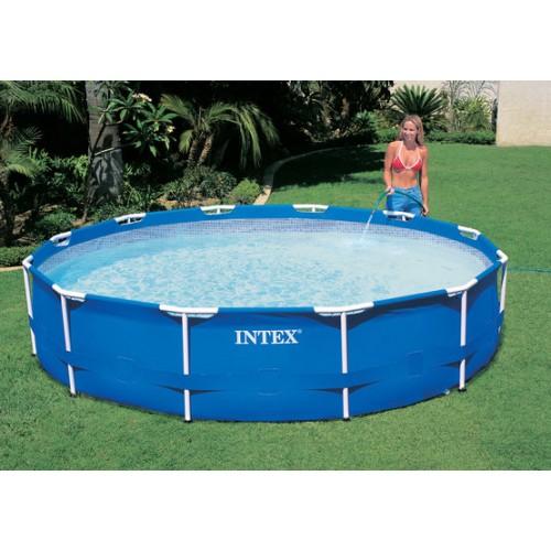 intex baz n metal frame pool 305 x 76 cm 28200np. Black Bedroom Furniture Sets. Home Design Ideas