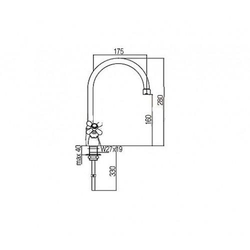 Paffoni Iris Baterie Dřezová Stojánková Měď Irv180rm