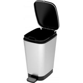 VÝPRODEJ KIS CHIC BIN M 35L STEEL odpadkový koš 40,5x26,5x45cm VÍKO NEDOLÉHA NA NÁDOBU!!!!