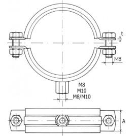"""RABOVSKÝ Objímka LUPD M8/M10 4"""", 105-114 mm dvojdílná 12222110"""