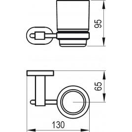 RAVAK Chrome CR 210.00 držák spohárkem (sklo) X07P188