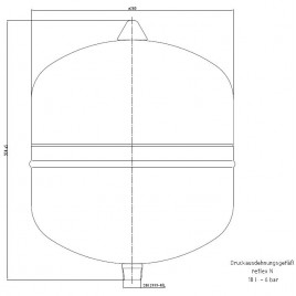 Reflex topná expanzní nádoba NG 18/6 šedá 7250100