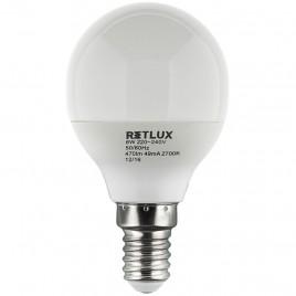 RETLUX RLL 268 G45 E14 LED žárovka miniG 6W WW