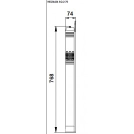 Grundfos SQ 2-70 ponorné čerpadlo s kabelem 30m 96524434