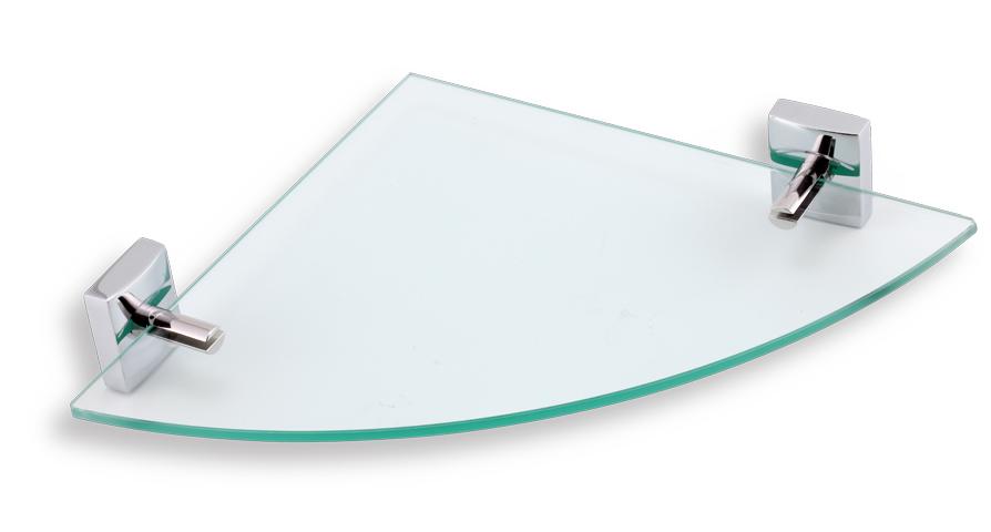 NOVASERVIS METALIA 12 rohová polička sklo/chrom 0235,0