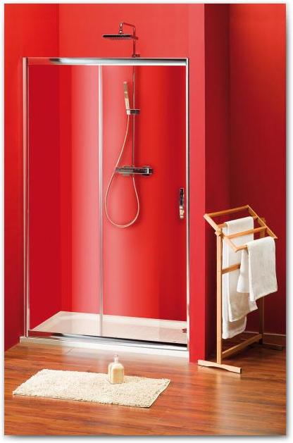 GELCO Sigma sprchové dveře dvoudílné posuvné 100, sklo BRICK SG3260