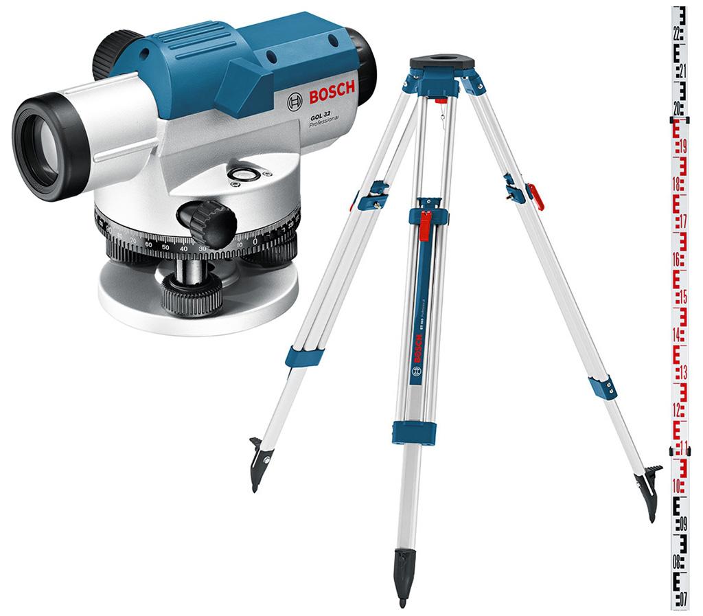 BOSCH GOL 26 D Professional Optický nivelační přístroj + lať GR 500+ stativ BT 160, 061599400E