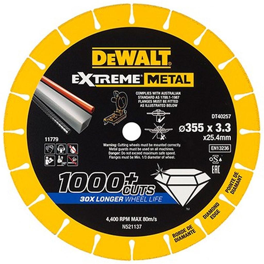 DeWALT DT40257 diamantový kotouč EXTREME METAL, 355 mm