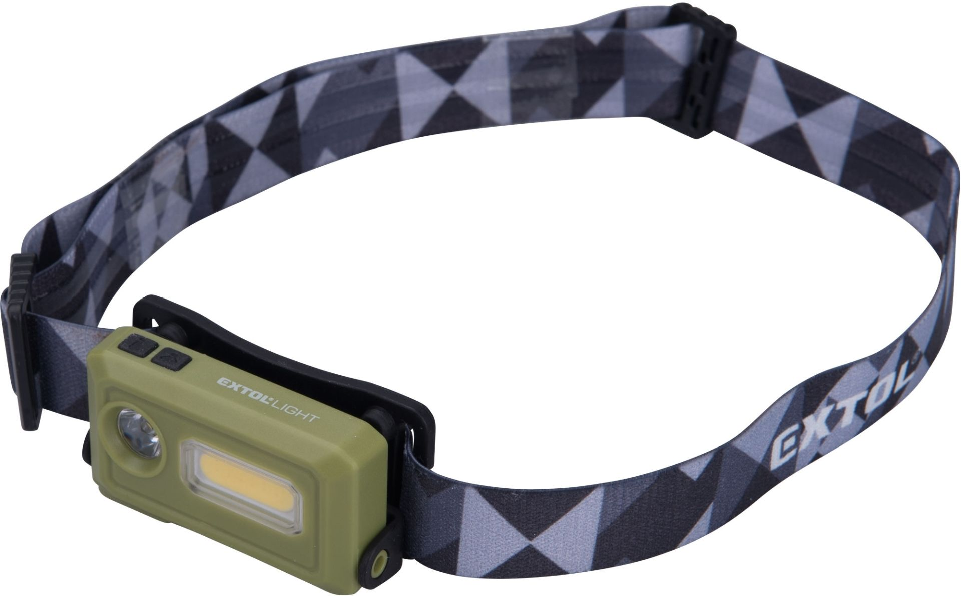 EXTOL LIGHT čelovka 140lm, nabíjecí, USB, LED+COB LED 43184