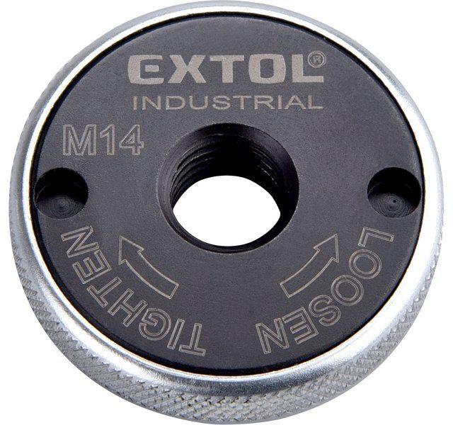 EXTOL INDUSTRIAL matice rychloupínací pro úhlové brusky, click-nut, M14, 8798050