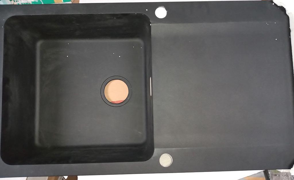 VÝPRODEJ Franke Orion OID 611, 940x510 mm, tectonitový dřez, černá 114.0288.543 DVA OTVORY, JEDEN OTVOR POŠKOZENÝ!!!!