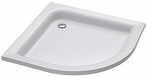 KOLO Standard Plus čtvrtkruhová sprchová vanička 90 x 90 cm XBN1590000
