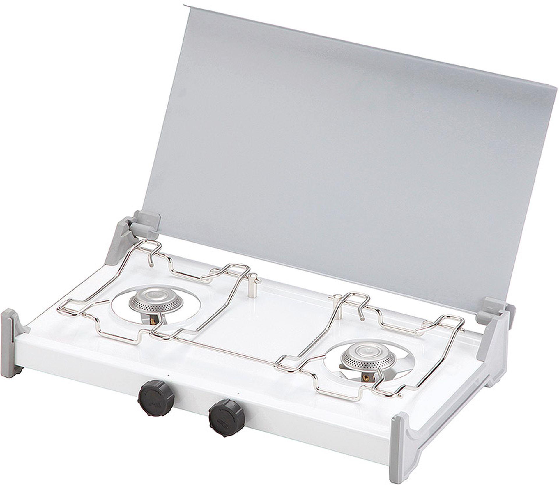 MEVA Plynový vařič RIGA 2 hořákový, s víkem, vysokotlaký 2337