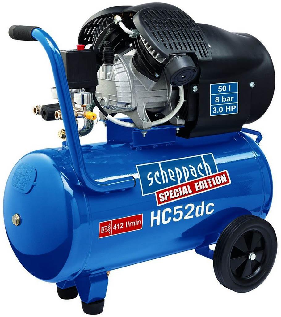 SCHEPPACH HC 52 dc dvoupístový olejový kompresor 50 l 5906101901