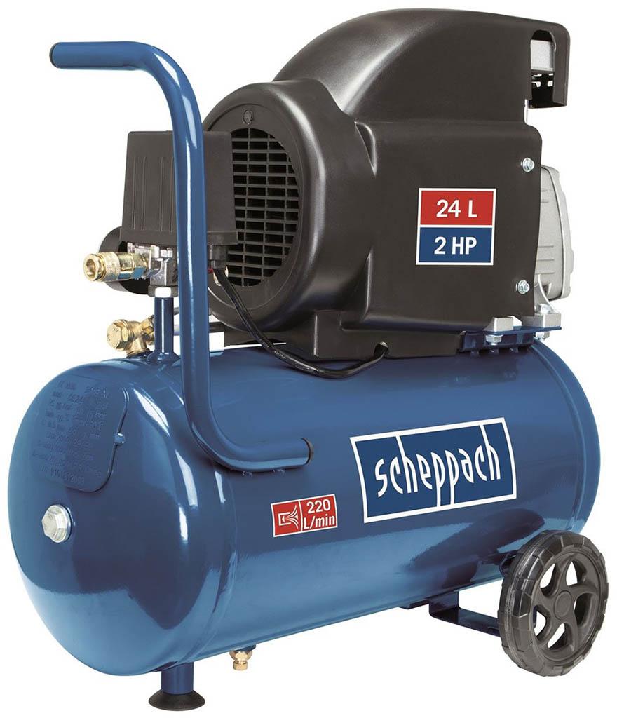 SCHEPPACH HC 26 - olejový kompresor 8 bar se vzdušníkem 24 l 5906135901